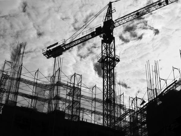 Construction Site Silhouette