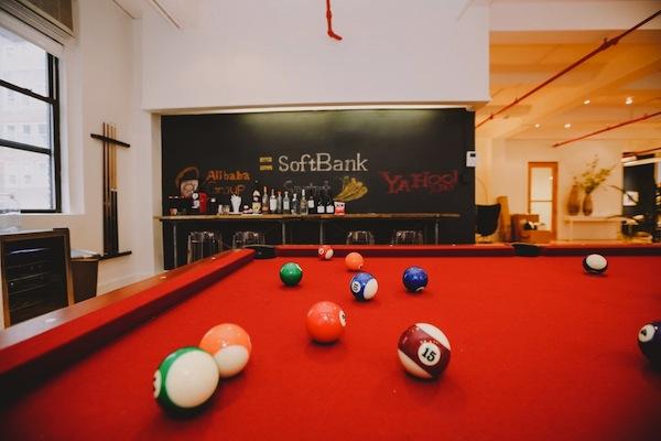 The pool table at Softbank Capital
