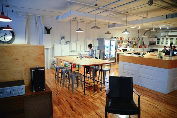 The kitchen and bar area at Betterment