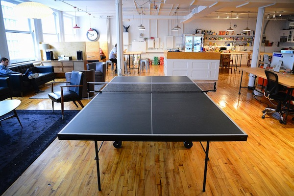 The ping pong table at Betterment